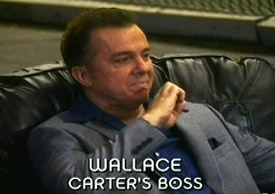 Burn Notice TV character Wallace played by Michael O'Keefe, photo