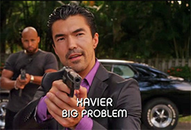 Photo of Ian Anthony Dale playing Burn Notice TV character Xavier