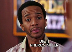 Photo of Andre Holland playing Burn Notice TV character Dion Carver