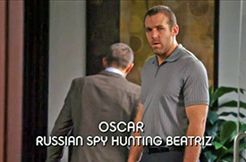Photo of Chris Marks playing Burn Notice TV character Oscar Markov