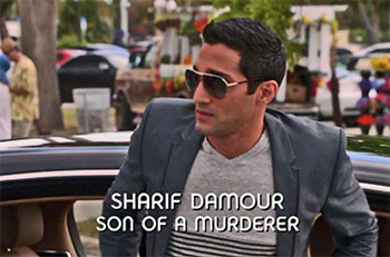 Photo of Dominic Rains playing Burn Notice TV character Sharif Damour
