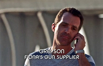 Photo of Wayne LeGette playing Burn Notice TV character Greyson Miller