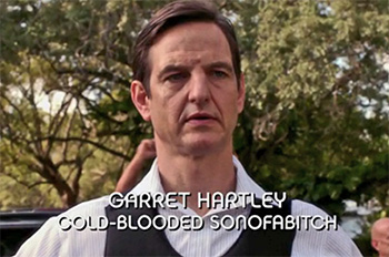Burn Notice TV character Garrett Hartley played by William Mapother, photo