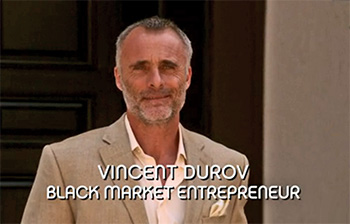 Photo of Timothy V. Murphy playing Burn Notice TV character Vincent Durov