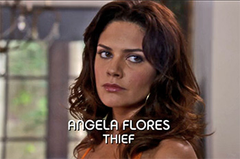 Burn Notice TV character Angela Flores played by  	Ang�lica Celaya, photo