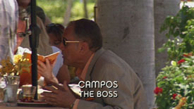 Photo of Mario Ernesto Sanchez playing Burn Notice TV character Campos