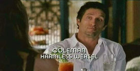 Burn Notice TV character Coleman played by Jonathan LaPaglia, photo