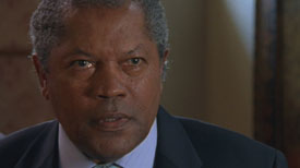Burn Notice TV character Regional Governor Duman played by Clarence Williams III, photo