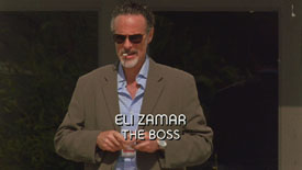 Burn Notice TV character Eli Zamar played by Joel Swetow, photo