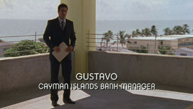 Photo of Javier Morga playing Burn Notice TV character Gustavo (Imposter)