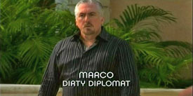 Burn Notice TV character Marco played by Roberto Escobar, photo