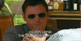 Photo of Nicholas Lea playing Burn Notice TV character Quinn Luna