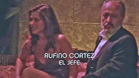 Photo of Castulo Guerra playing Burn Notice TV character Rufino Cortez