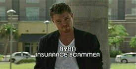 Burn Notice TV character Ryan Johnson played by Clayne Crawford, photo