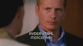 Photo of James C. Burns playing Burn Notice TV character Ryder Stahl