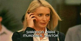 Burn Notice TV character Shannon Park played by Katherine LaNasa, photo