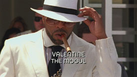 Photo of Method Man playing Burn Notice TV character Valentine