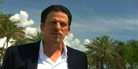 Burn Notice TV character Viatli played by V. J. Foster, photo