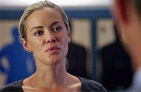 Photo of Kristanna Loken playing Burn Notice TV character Rebecca Lang