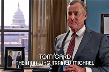 Photo of John C. McGinley playing Burn Notice TV character Agent Tom Card