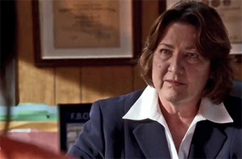 Photo of Peggy Sheffield playing Burn Notice TV character Warden Mills