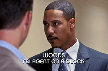 Burn Notice TV character Agent Woods played by Brian A. White, photo
