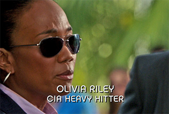 Photo of Sonja Sohn playing Burn Notice TV character Agent Olivia Riley