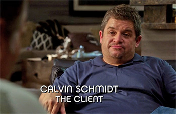 Photo of Patton Oswalt playing Burn Notice TV character Calvin Schmidt