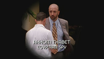 Photo of Robert Younis playing Burn Notice TV character Akhom Thabet