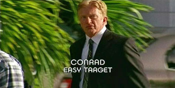 Burn Notice TV character Conrad played by Tom Nowicki, photo