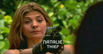 Burn Notice TV character Natalie Rice played by Callie Thorne, photo