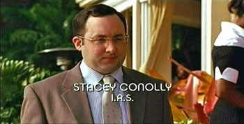 Photo of P.J. Byrne playing Burn Notice TV character Stacey Conolly