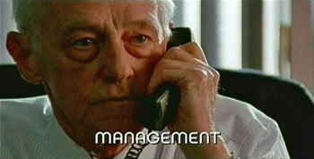 Burn Notice TV character Management played by John Mahoney, photo